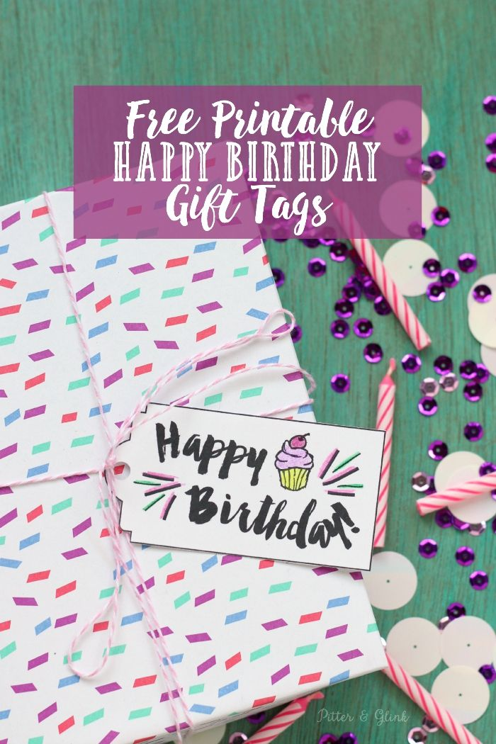 Free Printable Happy Birthday Gift TagsDownload the tag