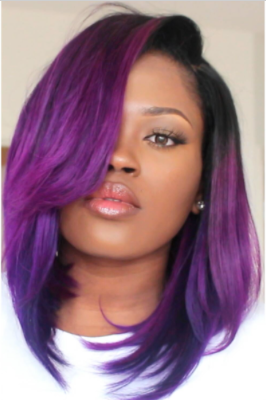Image Of 12 Quot Ultraviolet Bob Wig By Peakmill Purple Hair