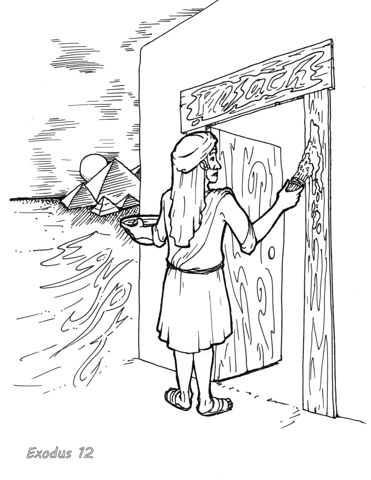 Passover Bible Coloring Page In 2021 Bible Coloring Pages Coloring Pages Bible Coloring [ 1650 x 1275 Pixel ]