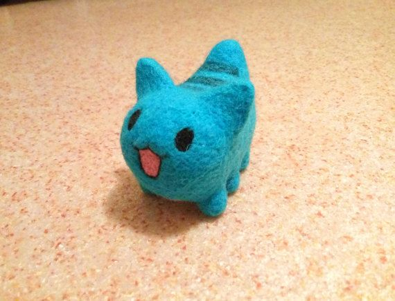 anime gifts needle felted cat cute cat sculpture geek gift