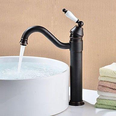 Poignée Vintage Bronze huilé finition de robinet évier de laiton de