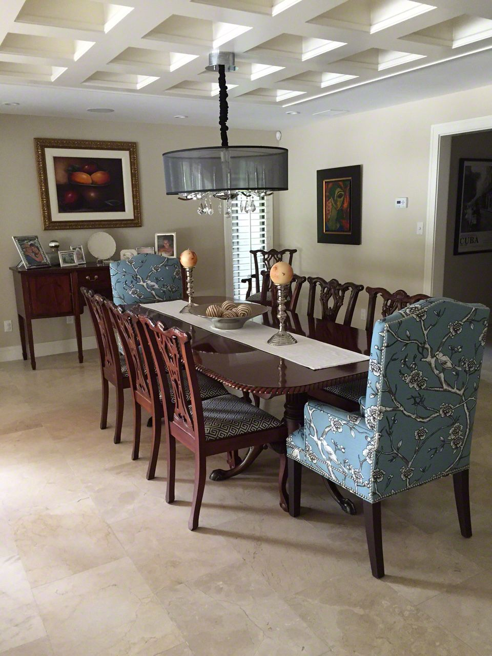 Crema Marfil Marble Flooring For The Dining Room Dining Room Floor