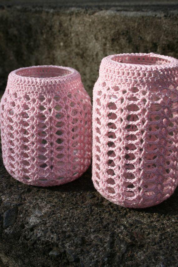 Crocheted Jar Cover Pattern Crochet For Home Inspiration