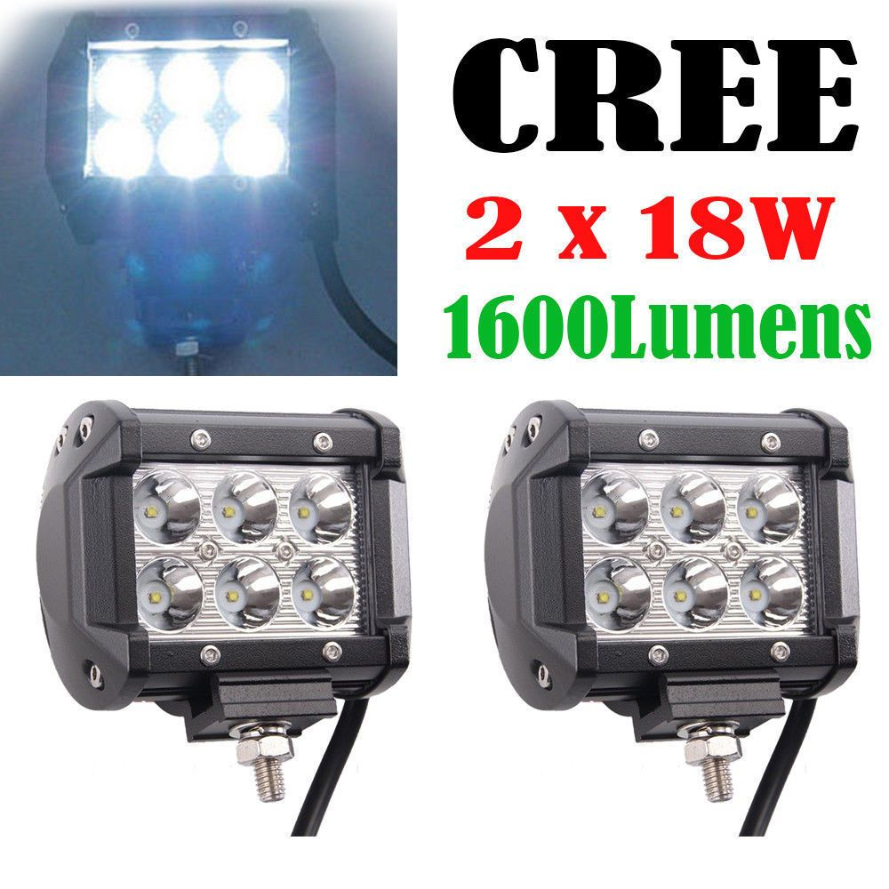2pcs 18w cree led work light bar spot beam off road driving fog lamp 2pcs 18w cree led work light bar spot beam off road driving fog lamp atv suv aloadofball Image collections