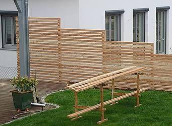 holz lutz sichtschutzw nde terrasse pinterest. Black Bedroom Furniture Sets. Home Design Ideas