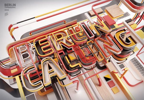 3D Letterings from Typography11 by Peter Tarka #3dtypography