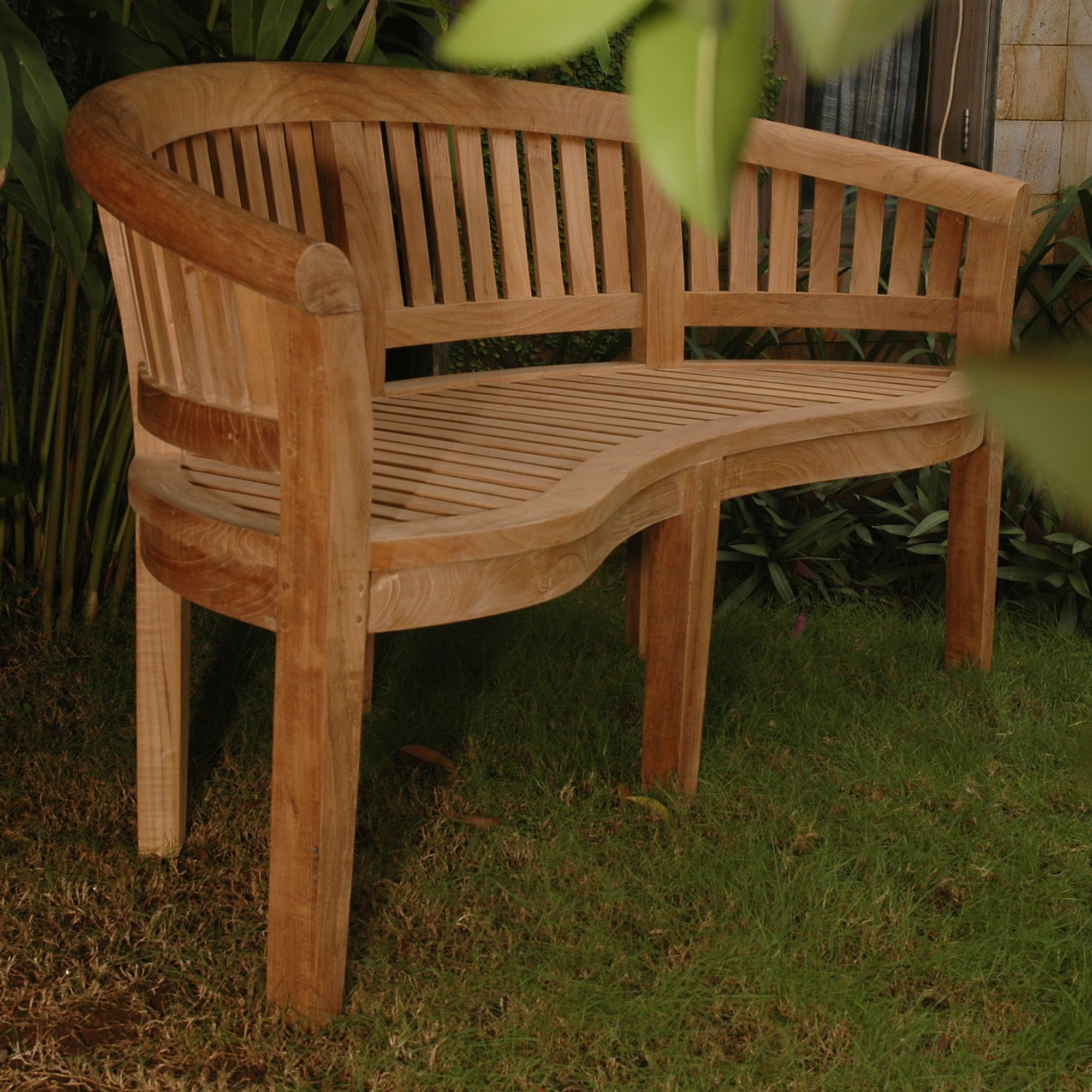 Curve Teak Garden Bench | Products | Pinterest | Products