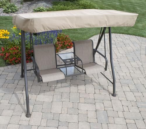 Manchester 2 Person Swing At Menards Outdoor Furniture Sets Outdoor Furniture Backyard