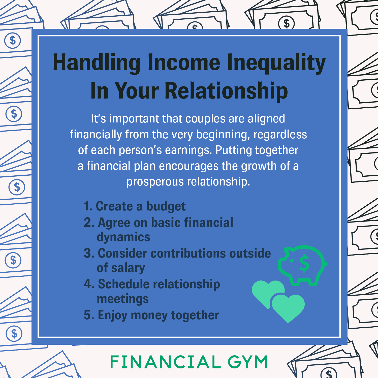 How To Handle Income Inequality In Your Relationship Personal Financial Planning Financial Planning How To Plan