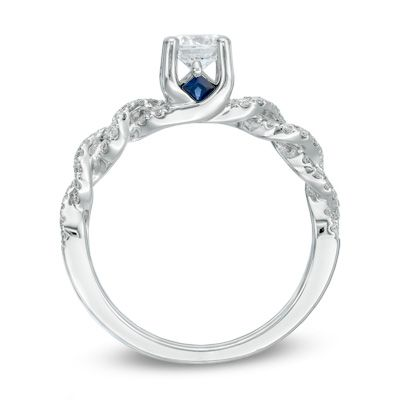 Vera Wang LOVE Collection 0.70 CT. T.W. Diamond Braid Ring in 14K White Gold  - Peoples Jewellers