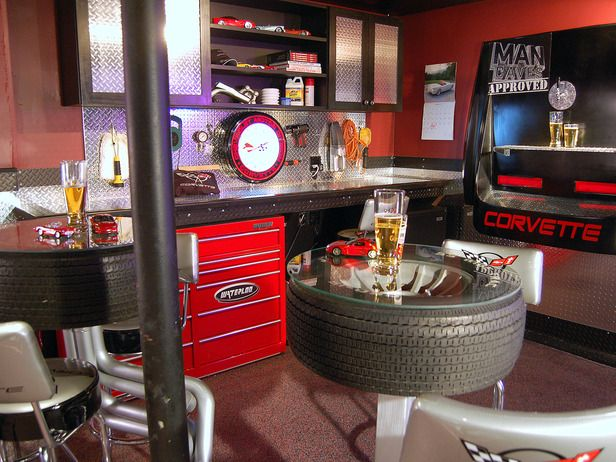 Man Cave Bar Garage : Man caves pool tables and bars tool cabinets men cave