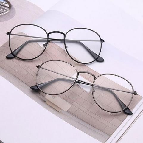 69c6b88ac17 Vintage Round Glasses frame retro Female Brand Designer gafas De Sol  Spectaclemodlilj