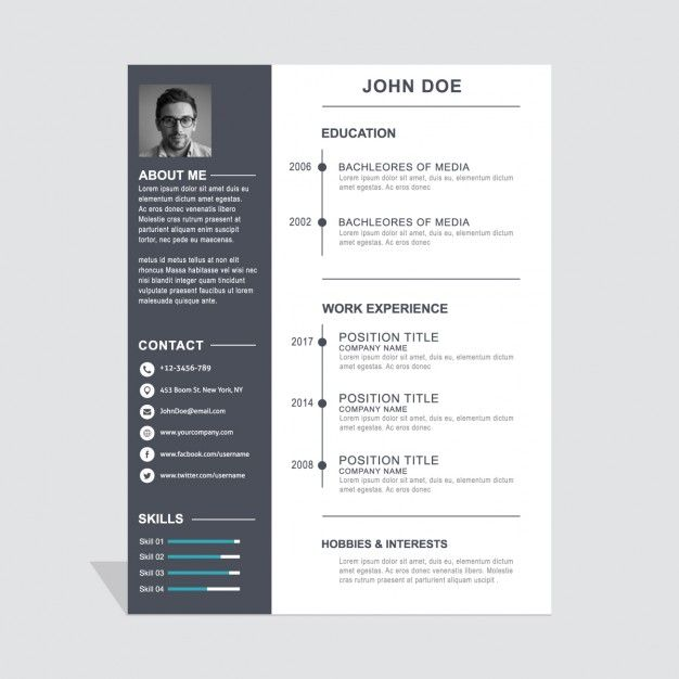 modelo de curriculum vitae corporativa Simple resume, Layout cv