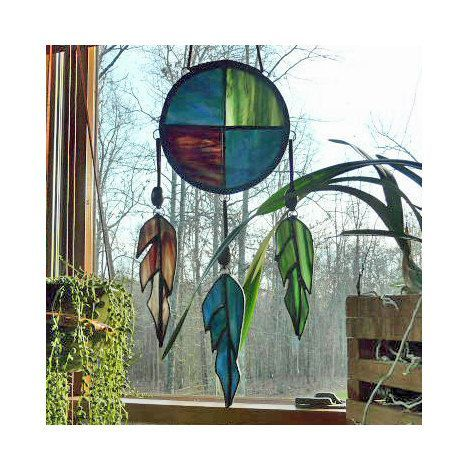 Native American Stained Glass Patterns | Stained Glass Suncatcher Native American by GlassArtByChris, ... | G ...