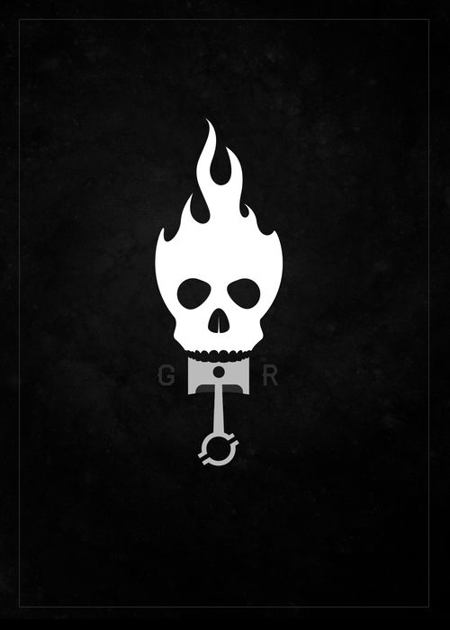 Ghost Rider Moped Logo Idea - By Jacob Allarding - Allarding.com #graphicdesign #branding #logo #logodesign #moped