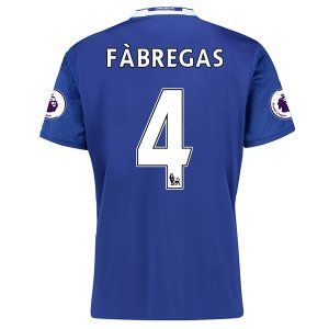 16-17 Chelsea Football Shirt Cheap Home Replica Shirts #4 FABREGAS [E282]