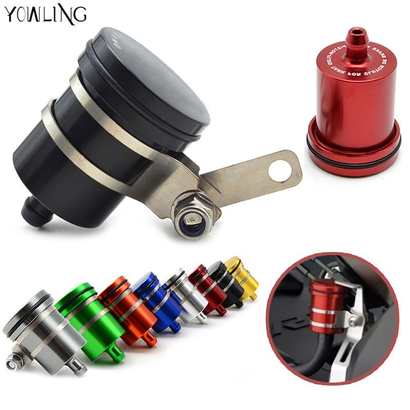 Universal Motorcycle Cnc Fluid Oil Reservoir Front Brake Clutch Tank Oil Cup For Yamaha Tmax530 Tmax500 Mt 07 Mt Brake Fluid Bmw S1000rr Motorcycle Accessories