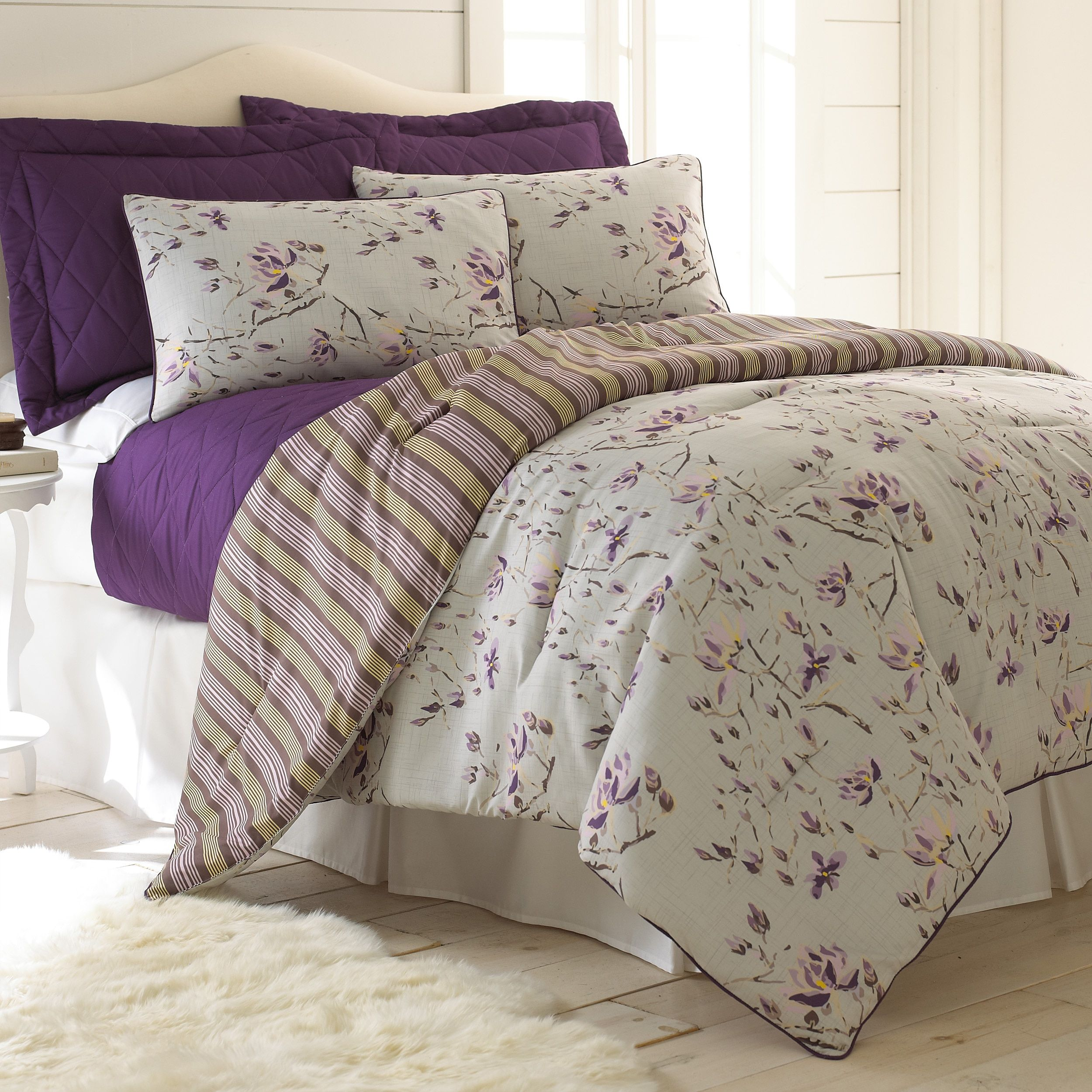 Chloe Reversible 6 piece forter and Coverlet Set