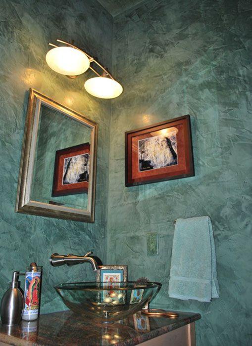 Pin By Venetian Plaster Art On Venetian Plaster On The: Powder Room With Venetian Plaster Walls