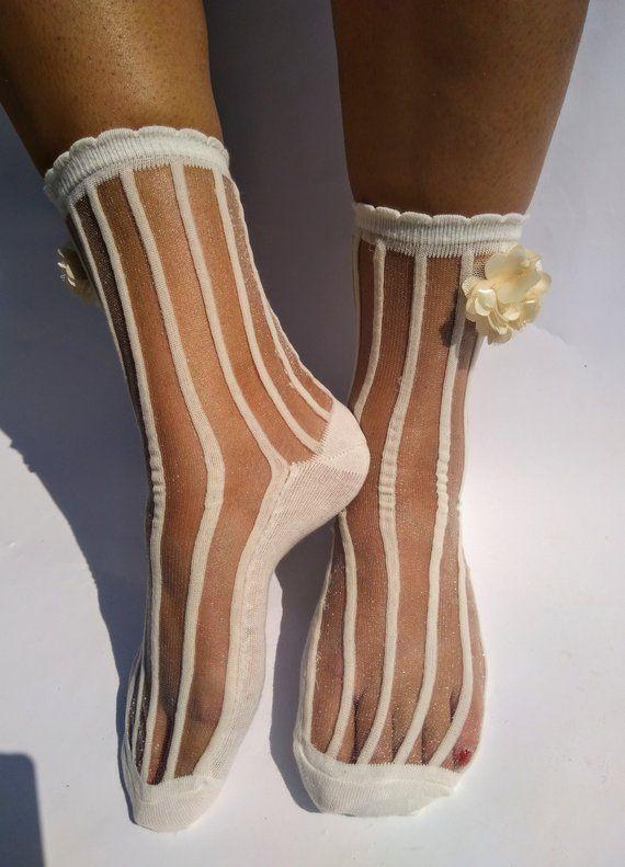 3a3f8c4fc Women s clothing. Hosiery. Flower socks. Tulle Socks. Sparkle socks.  Transparent Socks. Sheer socks.