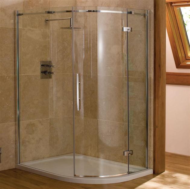 Merlyn Vivid Nine Offset Quadrant Shower Door 1000mm X 800mm Left Handed 8mm Glass Vfqu3c1080l Quadrant Shower Quadrant Shower Enclosures Shower Enclosure