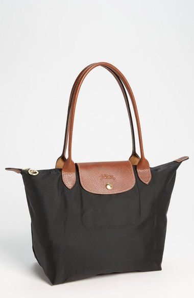 Longchamp Small Le Pliage Shoulder Bag Bags Leather Nylon Lining