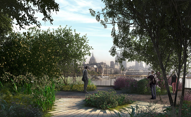 Forging Ahead Thomas Heatherwick Updates Us On The Garden Bridge Garden Bridge London Garden Bridge Project London Garden