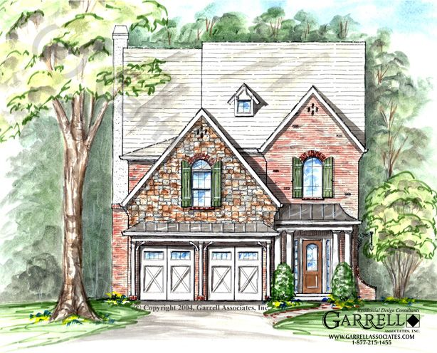Windsormont A House Plan # 03079, Front Elevation, English Tudor Style  House Plans