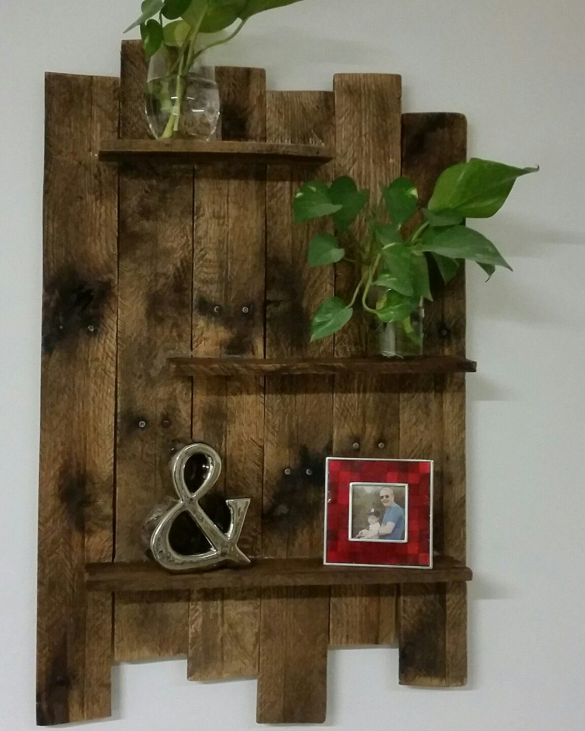 Diy wood pallet shelf diycrafts in pinterest pallet barn