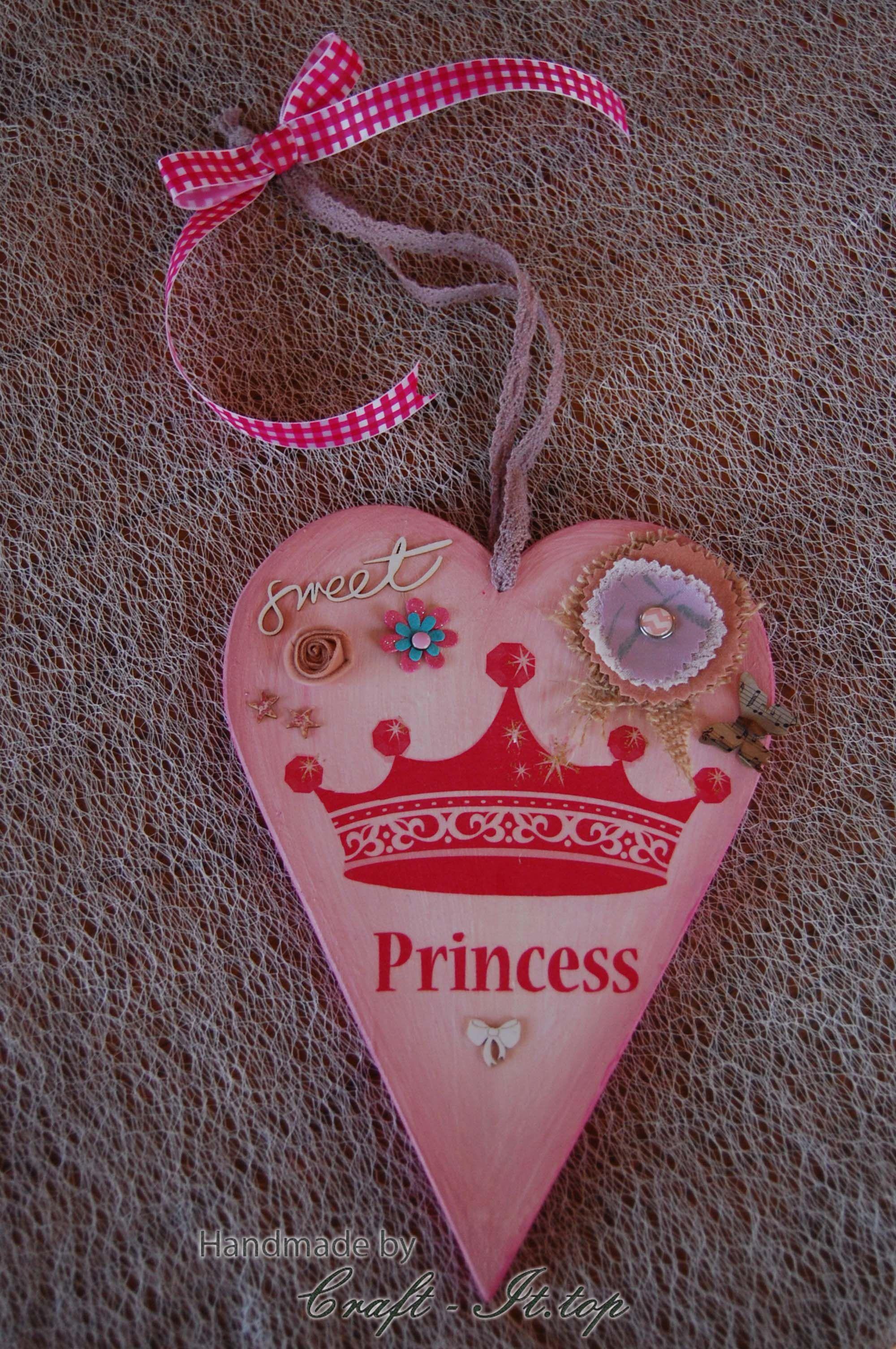 #wooden #heart #princess | Handmade, Christmas ornaments ...