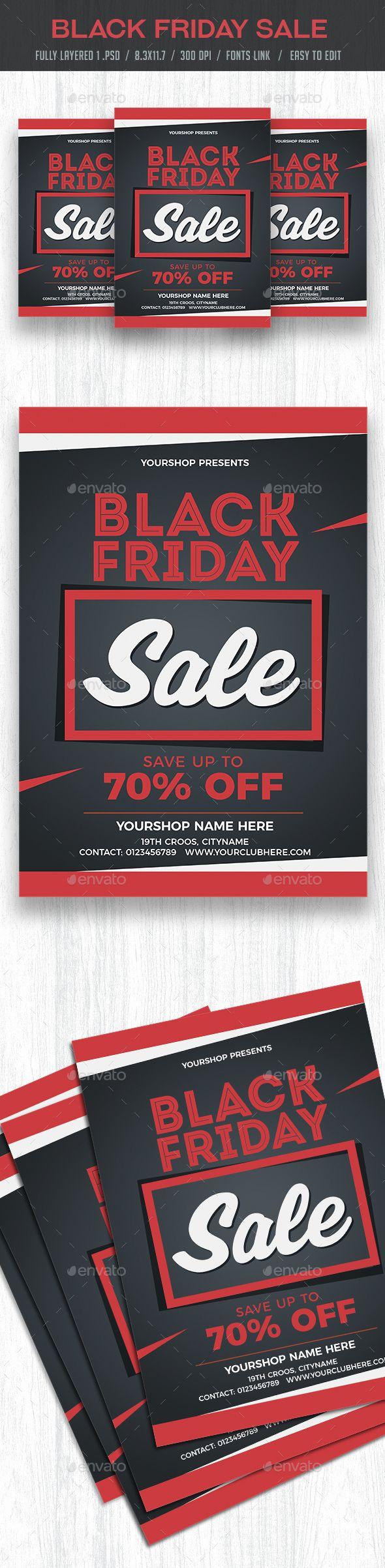 black friday sale flyer poster sale promotion ads flyer poster
