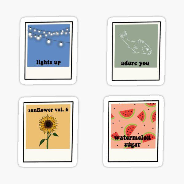 Harry Styles Polaroid Stickers