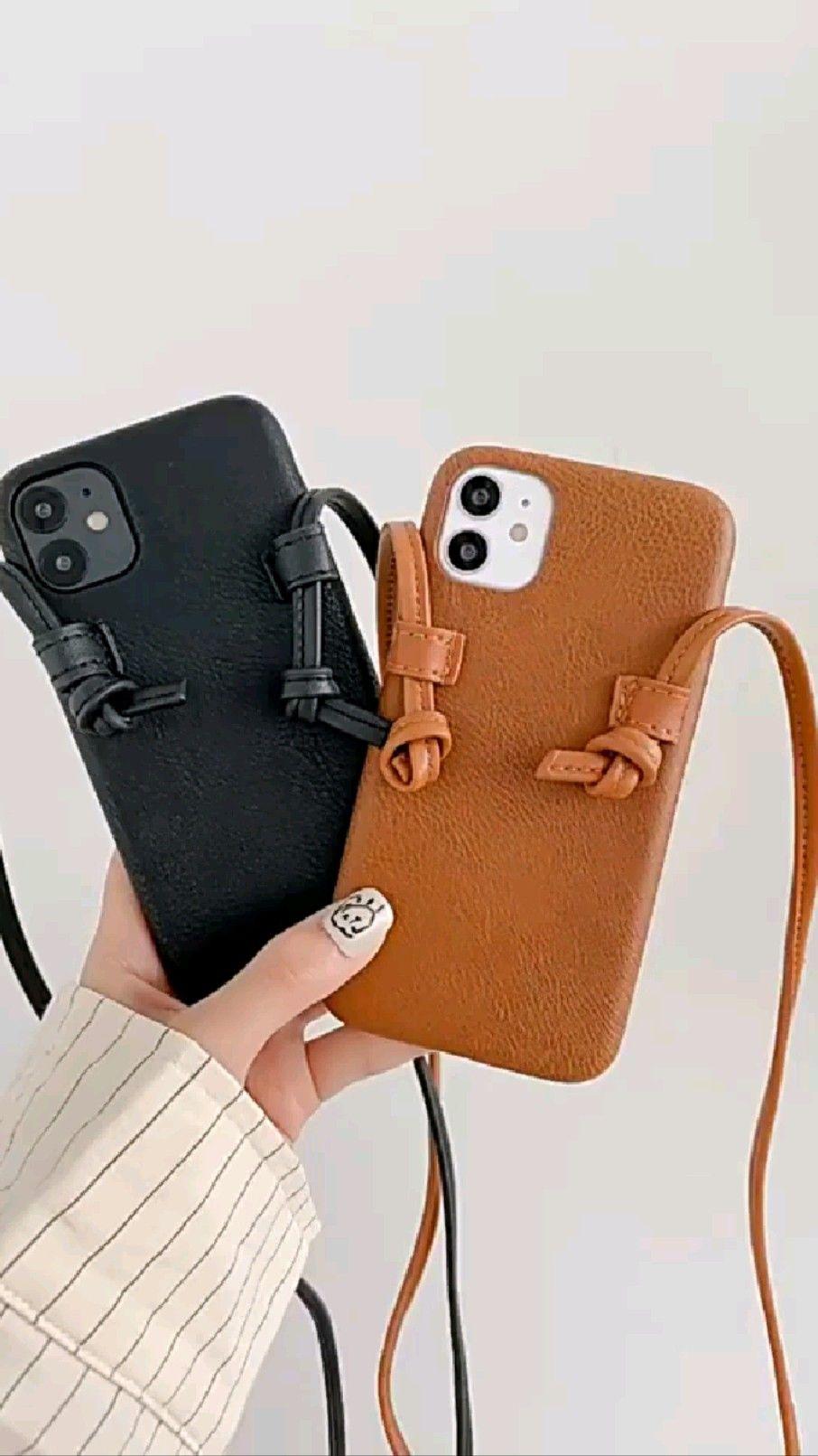 Shoulder Strap Leather iPhone Case