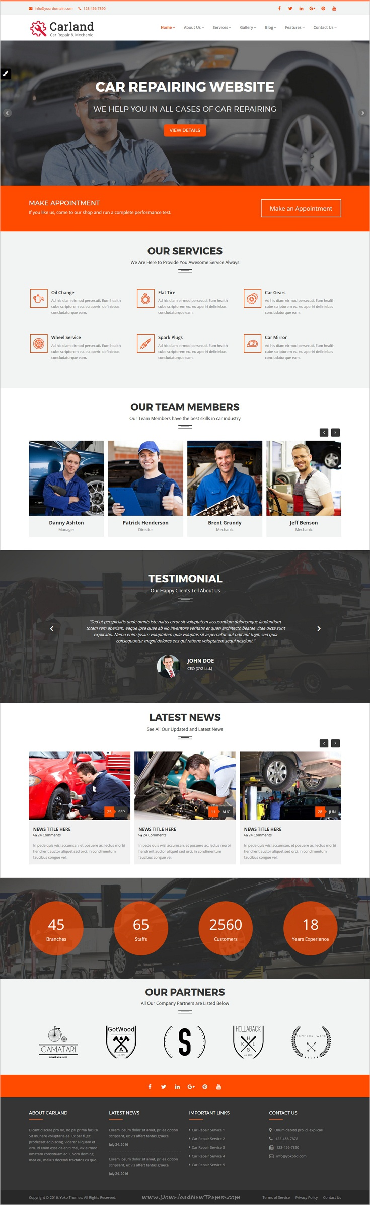 CarLand is clean and modern design responsive HTML #bootstrap theme ...