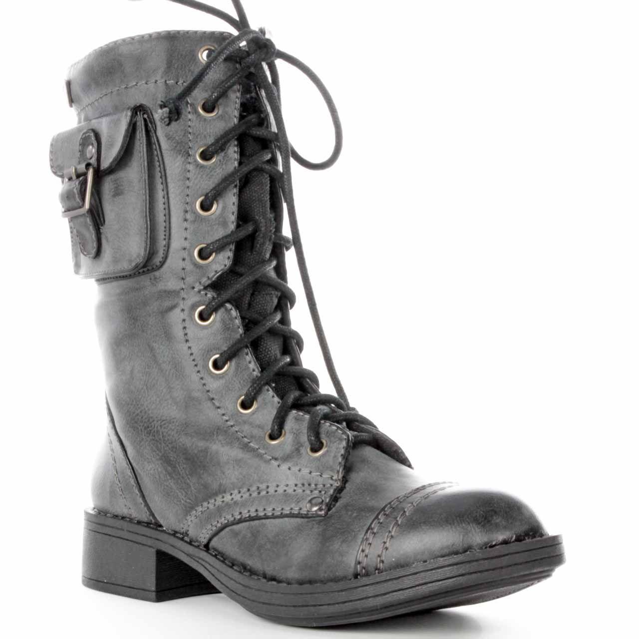 Roxy Boot Black Seattle Combat Mens