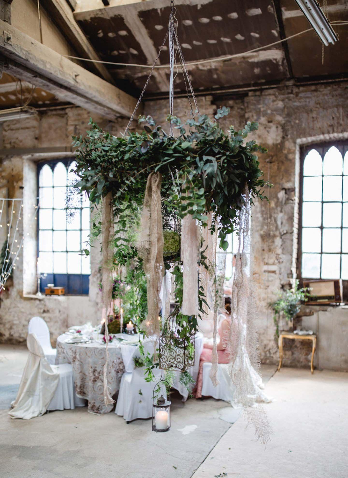Hochzeit einmal anders vintage style trifft auf - Deko industrial ...