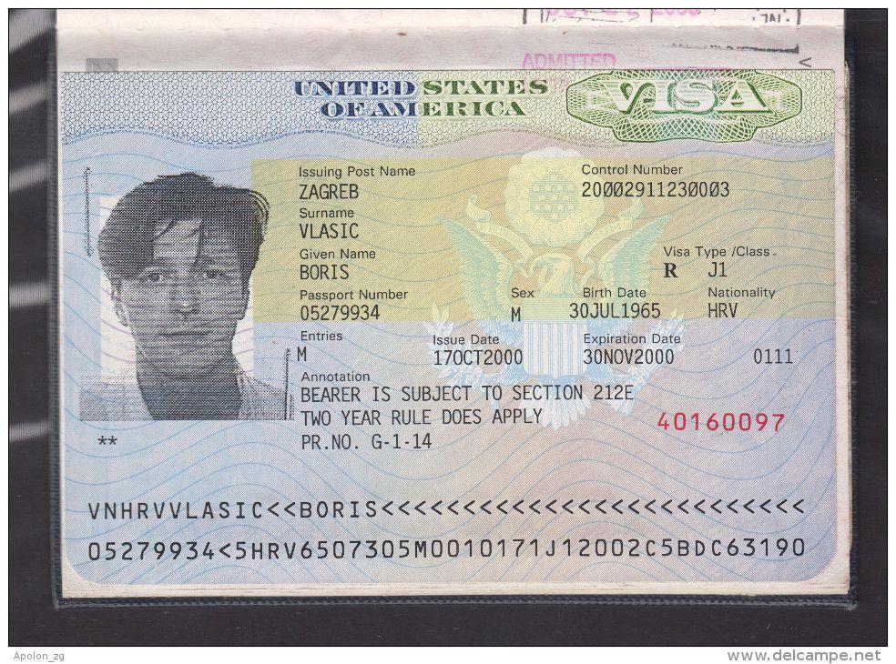 Expired Croatia Passport With Two Visas Of Usa Three Schengen Visas And Visa Of U K Former User Known Croatian Journali Delcampe Com H Passport Croatia Visa
