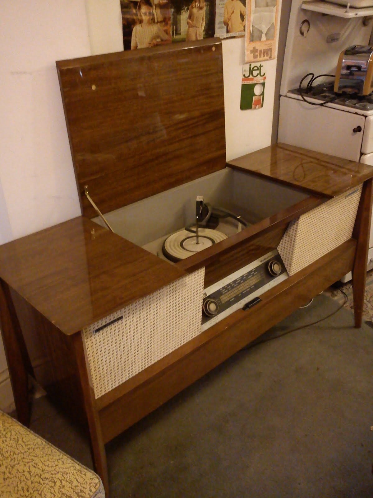 Stereo console: some had built-in radios and all had big ...