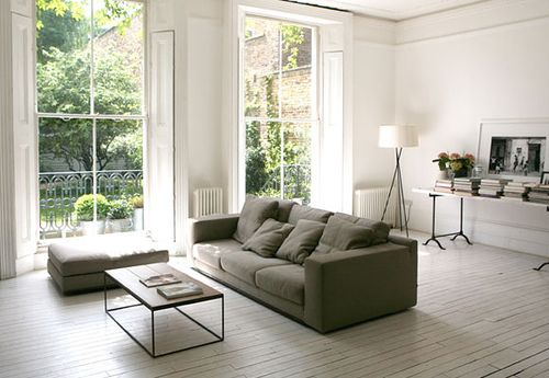 Painted Floors - Google Search | Winter Living Room, Grey Sofa Living Room, White Floors