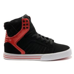 5cb83e72e4a Supra Skytop Black Red Suede High Tops for Men | My Style | Shoes ...