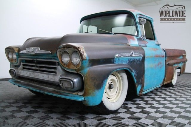 1958 Chevrolet Apache Lower Front 3 4 Classic Pickup Trucks Cool Trucks Vintage Trucks