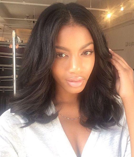 Short Bob Human Hair Full Lace Wigs African Americans Brazilian