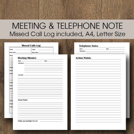 Secretary Desk Supplies Secretary Notes A4, Letter Meeting