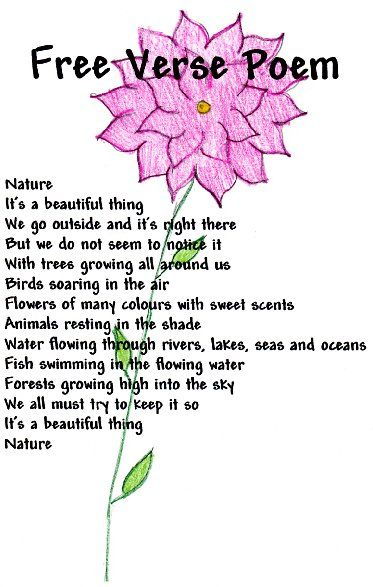 Free Verse Poem Google Search Education Pinterest Free Verse