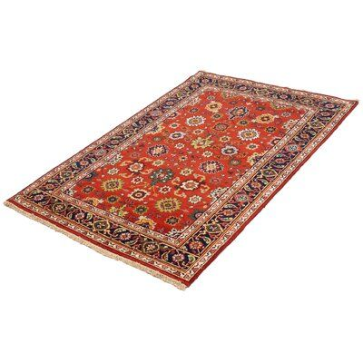 Bloomsbury Market One Of A Kind Holdenville Serapi Heritage Hand Knotted 5 X 7 9 Wool Red Blue Beige Area Rug Area Rugs Beige Area Rugs Rugs