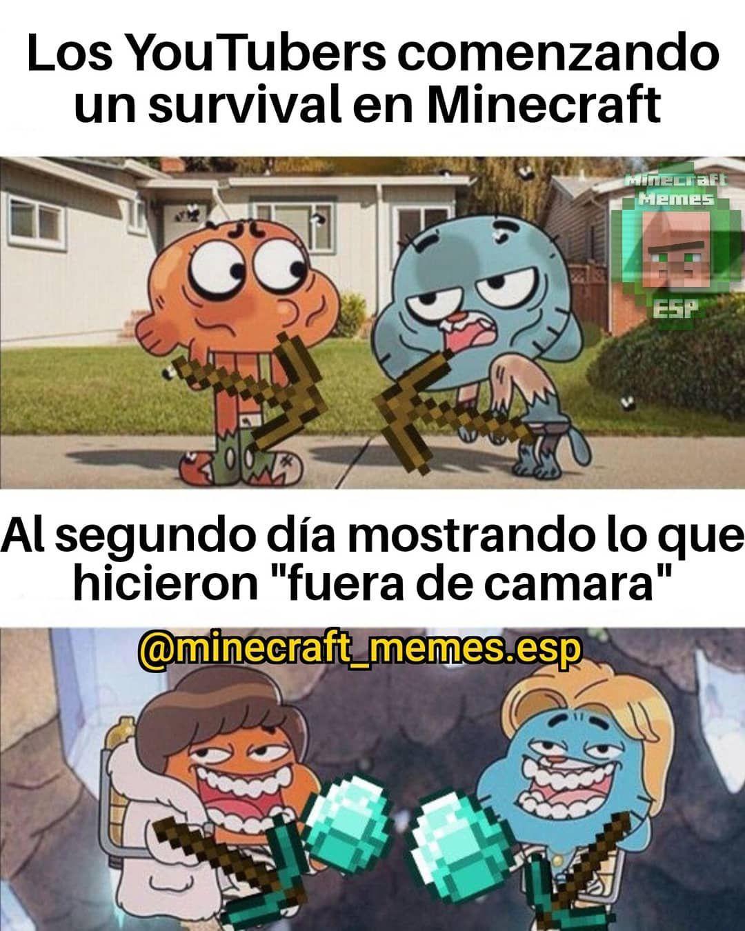 Memes De Minecraft En Espanol En Instagram Nuevos Memes Todos Los Dias En Minecraft Memes Esp Minecraft Gracioso Chistes De Minecraft Memes De Minecraft
