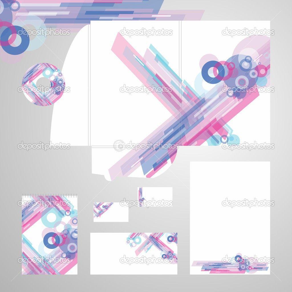 Conjunto de plantillas de identidad corporativa - en blanco, tarjeta ...