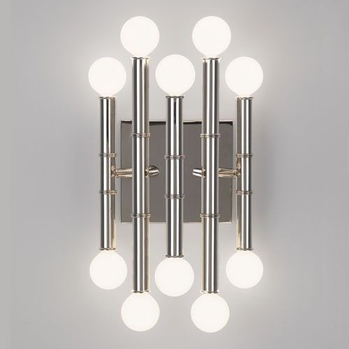 Meurice 10 Light Wall Sconce Wall Sconce Lighting Indoor Wall Sconces Brass Wall Sconce