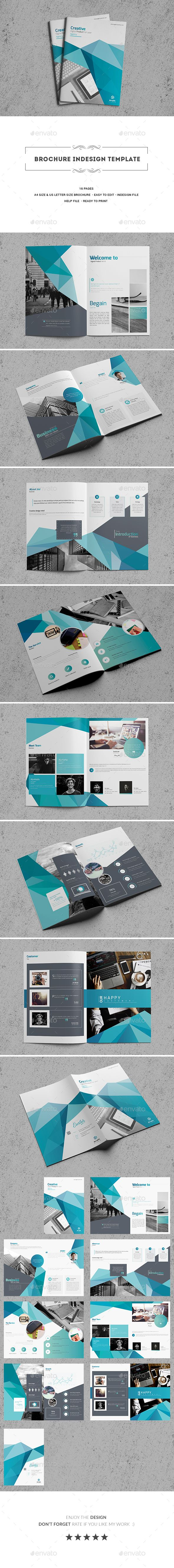 Brochure Indesign Template | Fútbol, Revistas y Libros