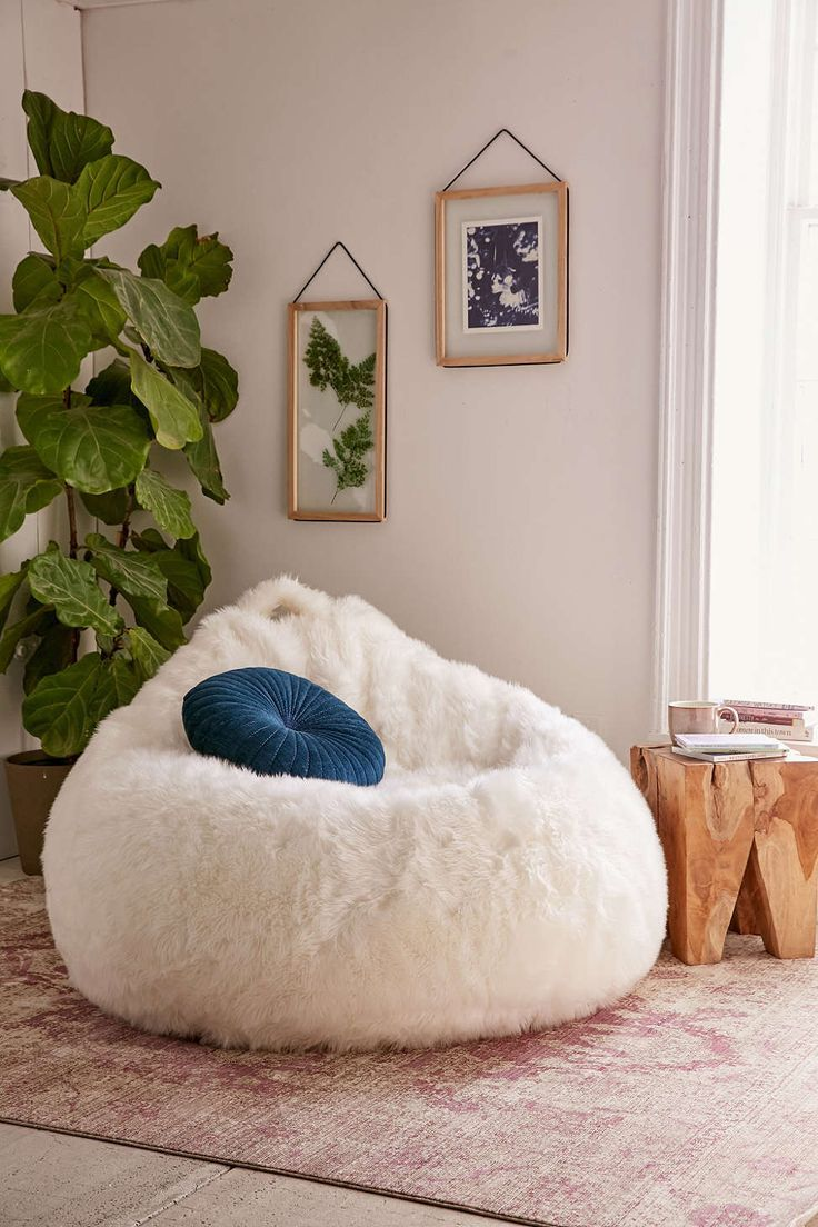 Aspyn Shag Bean Bag Chair Urban Outfitters Interior